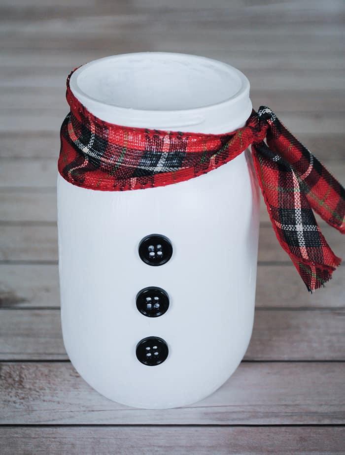 Diy Holiday Decorations How To Make A Mason Jar Snowman