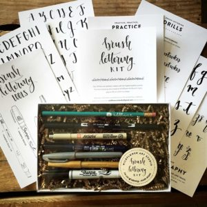 brush lettering kit - gift ideas for crafters