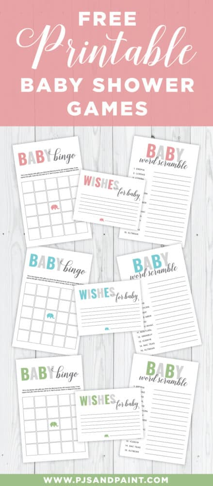 Free Printable Baby Shower Games Pjs And Paint Volume 1