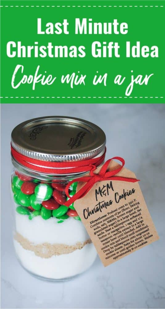 mm christmas cookie in a jar