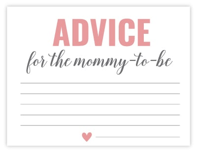 pink advice cards