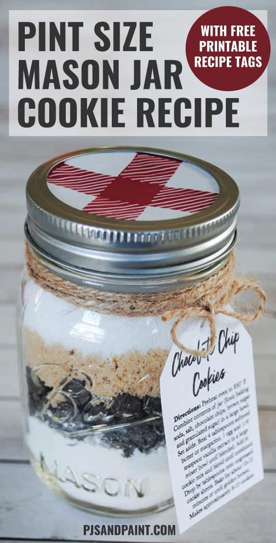 pint size mason jar cookie recipe pinterest