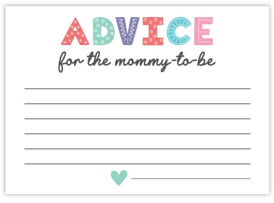 advice for mommy cards