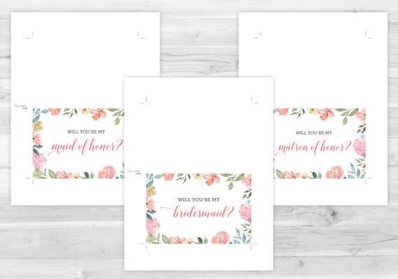 floral bridesmaid card