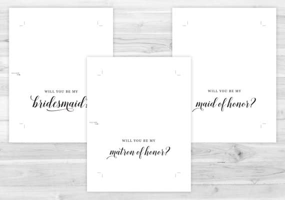 free printable will you be my bridesmaid card