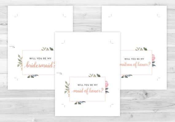 free bridesmaid cards