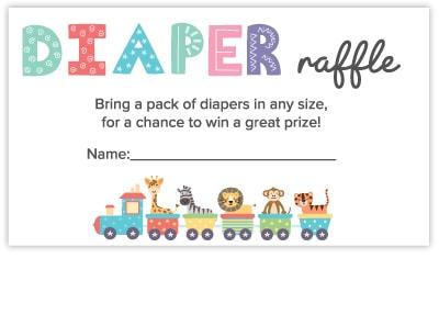 diaper raffle free cards