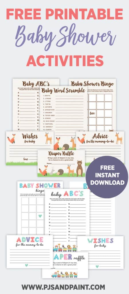 printable baby shower activities