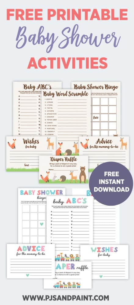 printable baby shower activities