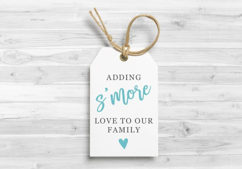 baby shower smores tag