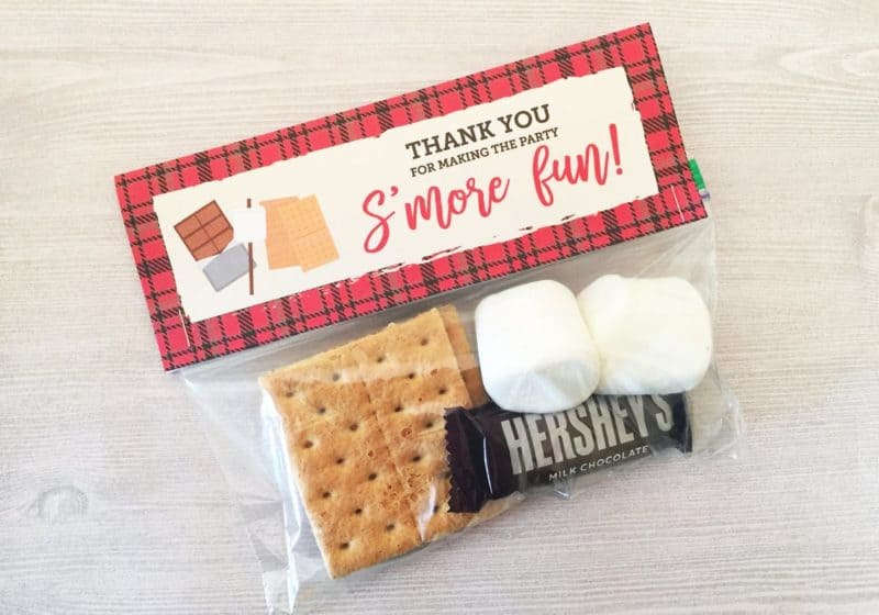 birthday s'more favors