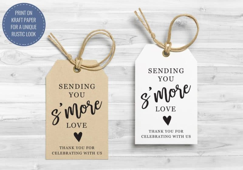 s'mores tags
