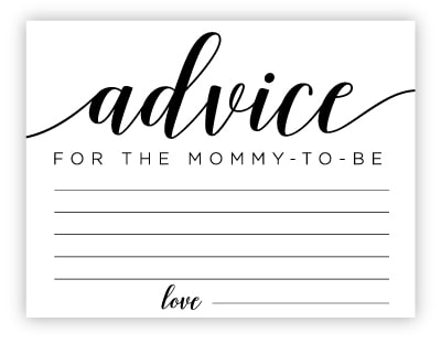 printable advice cards