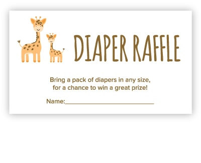diaper raffle free printable