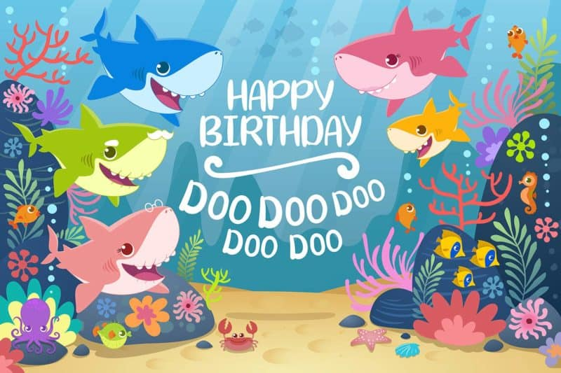 baby shark birthday banner