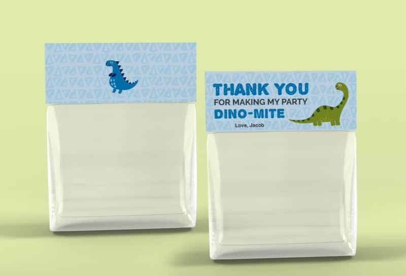 free printable dinosaur bag topper