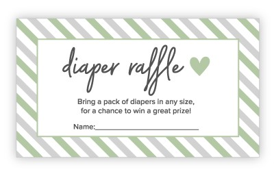 diaper raffle cards