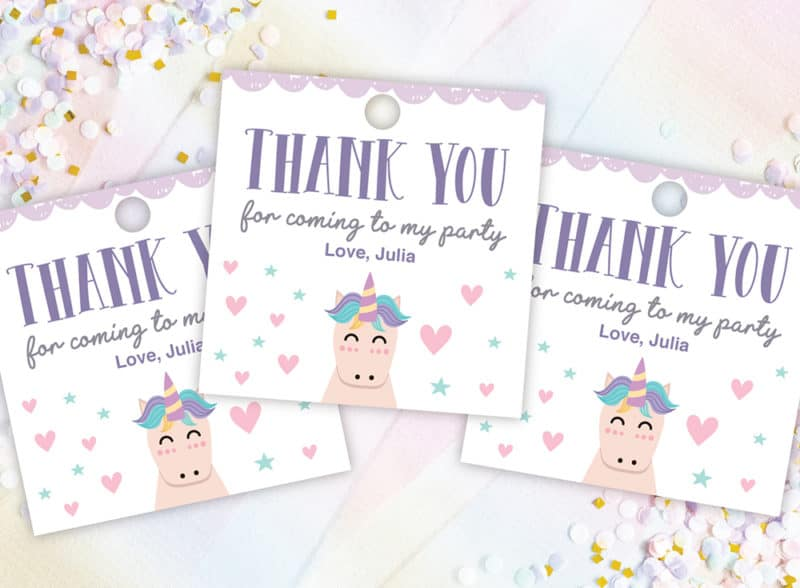 graphic about Free Printable Thank You named Free of charge Printable Unicorn Thank On your own Tags - Suddenly Obtain