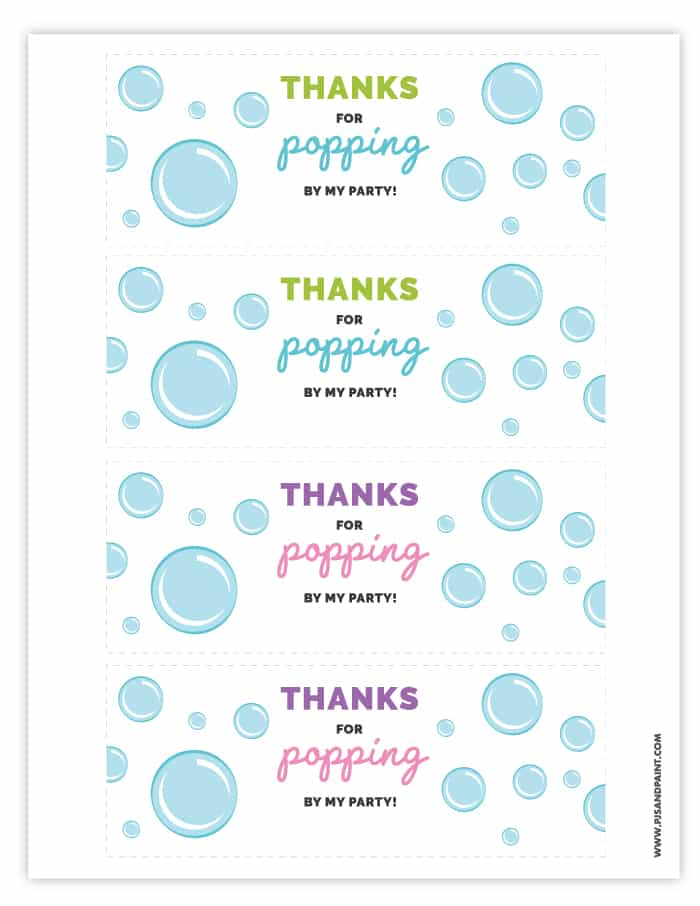 picture about Thanks for Popping by Free Printable named Bubble Celebration Favors Absolutely free Printable Bubble Labels