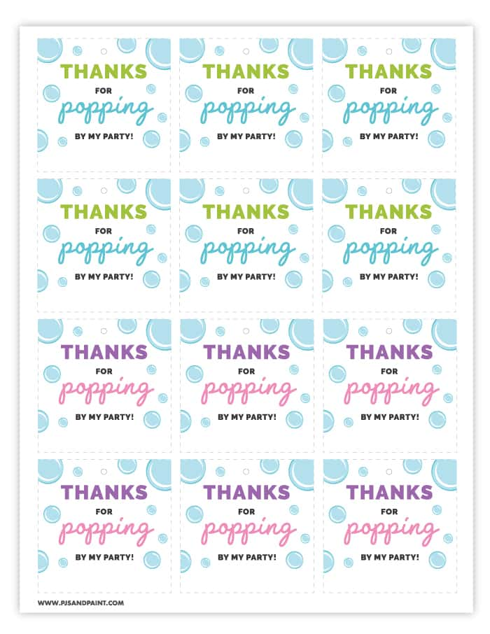 image regarding Thanks for Popping by Free Printable known as Bubble Social gathering Favors Absolutely free Printable Bubble Labels