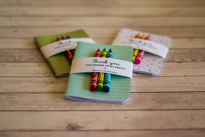 notebook party favor