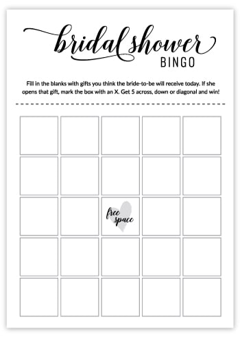 image about Bridal Shower Bingo Free Printable called Cost-free Printable Bridal Shower Online games Bridal Shower Bingo Playing cards