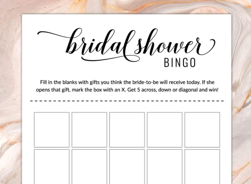 Free Printable Bridal Shower Games Bridal Shower Bingo Cards
