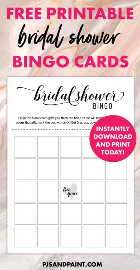 image regarding Bridal Shower Bingo Free Printable titled Absolutely free Printable Bridal Shower Online games Bridal Shower Bingo Playing cards
