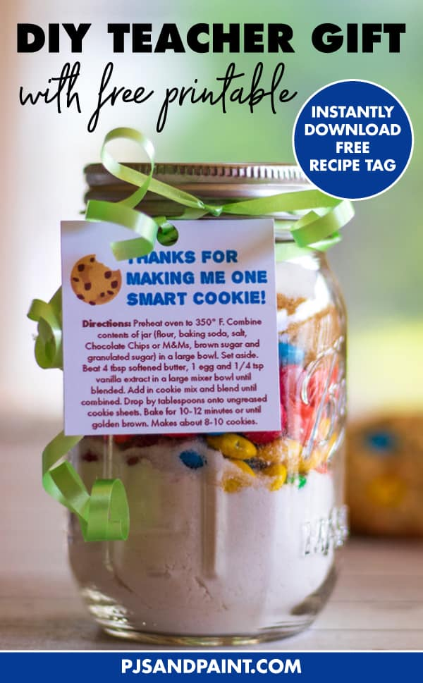 picture about Thanks for Making Me One Smart Cookie Free Printable identified as Trainer Present Cookies In just A Jar Cost-free Printable Recipe Tag