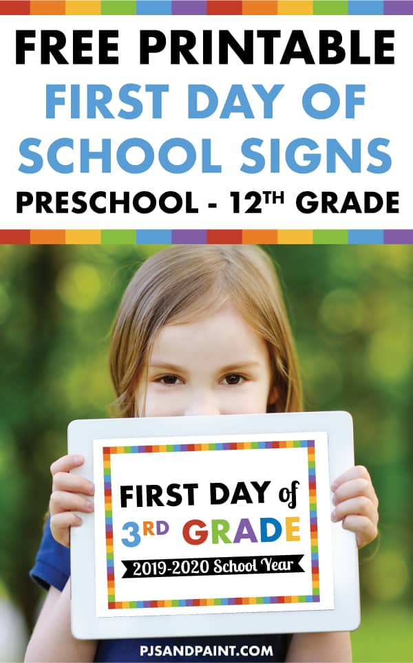 photograph about First Day of 3rd Grade Sign Printable identify Free of charge Printable Initial Working day of University Signs or symptoms Preschool - 12th