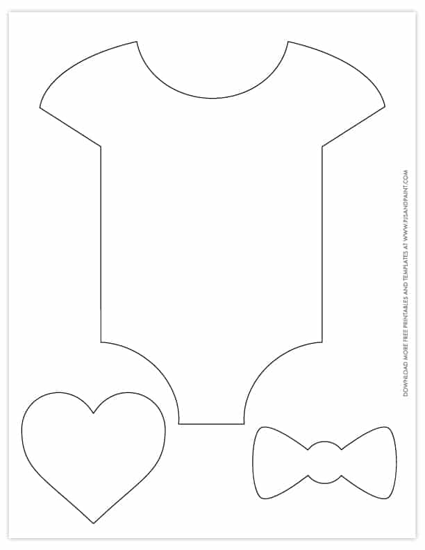 Free Printable Baby Shower Patterns Onesie Template