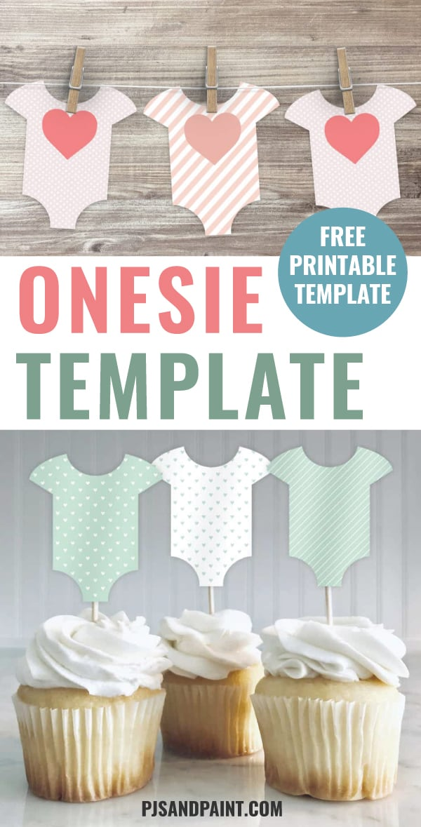 Free Printable Baby Shower Patterns | Onesie Template