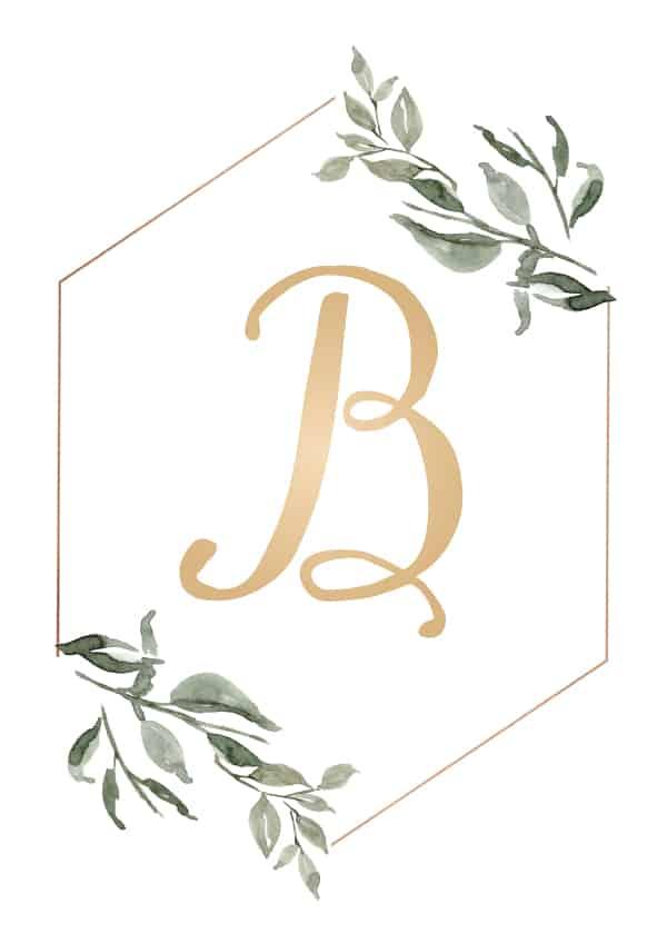printable monogram b