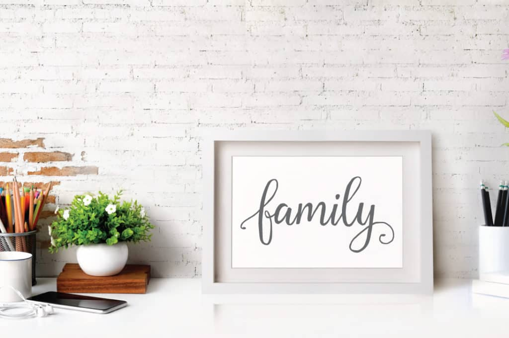 printable hand lettered sign