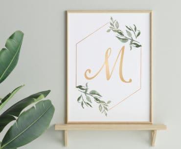 free printable monogram