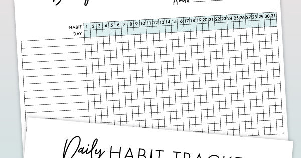 picture relating to Daily Habit Tracker Printable identify Day by day Behavior Tracker No cost Printable Carry out Your Ambitions!