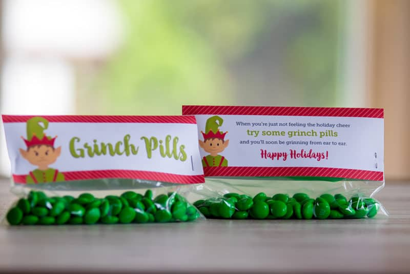 free printable grinch pills