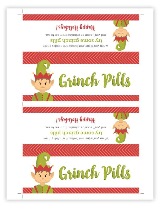 grinch pills bag topper