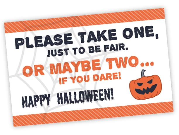 photograph relating to Please Take One Sign Printable known as No cost Printable Make sure you Just take A person Halloween Signal Immediate Obtain