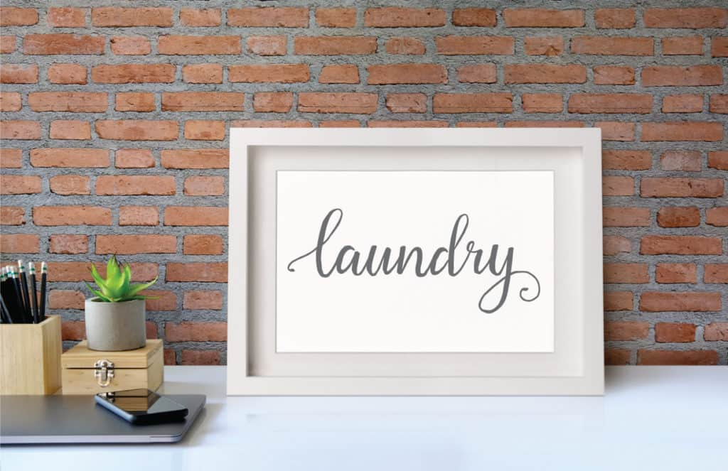 printable laundry sign