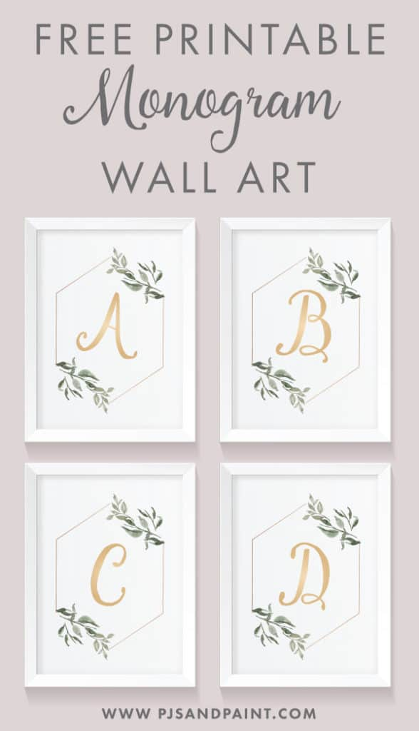 photo regarding Free Printable Monogram named Totally free Printable Monogram Wall Artwork Do-it-yourself Property Decor