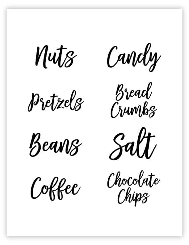 image about Printable Pantry Labels named Totally free Printable Pantry Labels Labels for Food stuff Storage