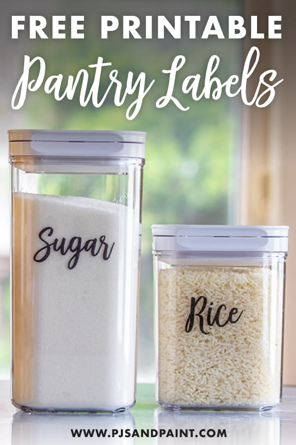 pantry label pinterest