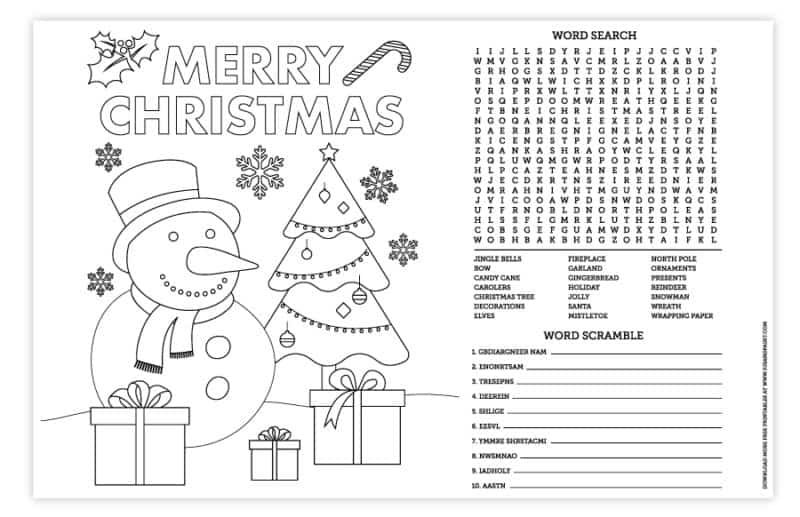 11x17 christmas placemat