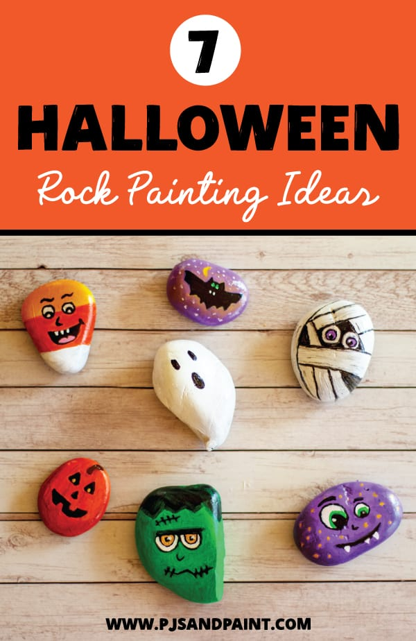7 halloween rock painting ideas pinterest