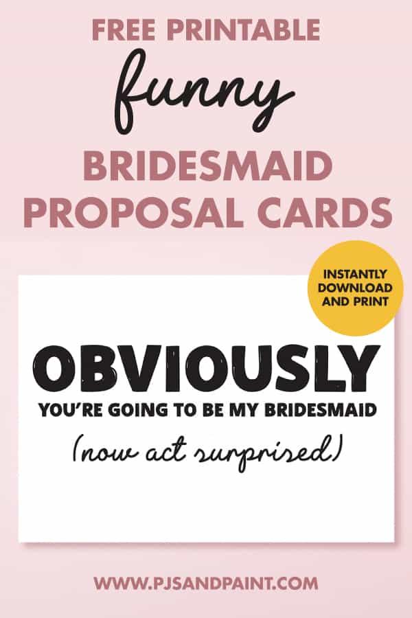 funny bridesmaid proposal cards