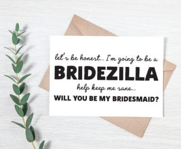 bridezilla proposal card