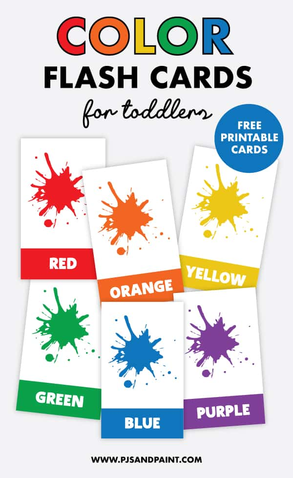 color flash cards pinterest