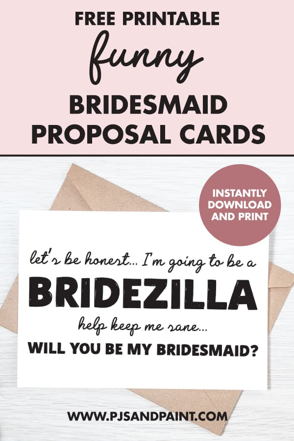 funny bridesmaid proposal card pinterest