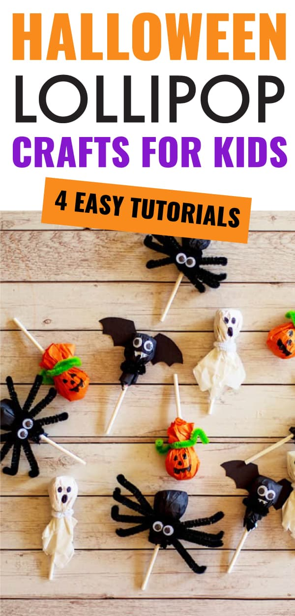 halloween lollipop crafts for kids